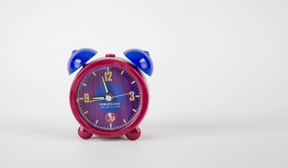 Kids-alarm-clock-ITC-Promotion-Kuwait-Product- KFC2-FCBarcelona