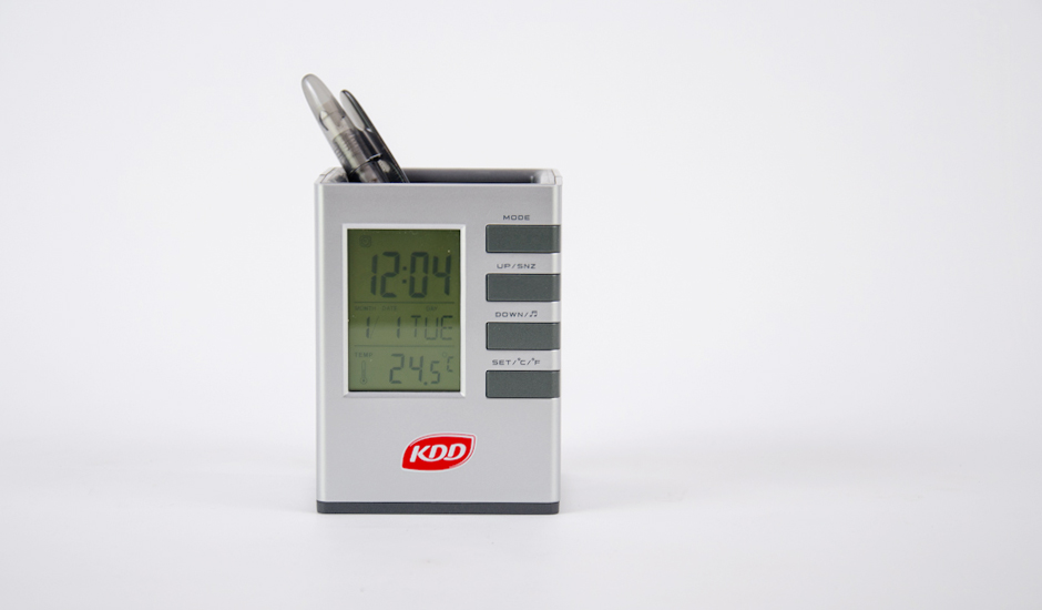 desk-clock-Penholder-ITC-Promotion-Kuwait-Product- KDD
